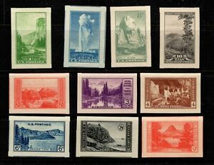 OAS CNY 11294 SCOTT 756 765 NATIONAL PARKS SUPER JUMBO SMQ 100 MNH SET NGAI