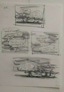 WALT DISNEY ORIGINAL DAILY COMIC STRIP DRAWING OF