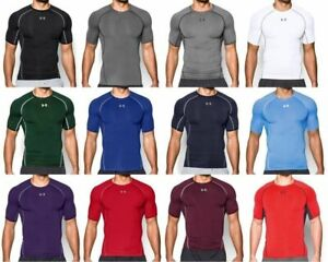 Under Armour UA Men's HeatGear Short Sleeve Compression Shirt FREE SHIP 1257468 $19.99
