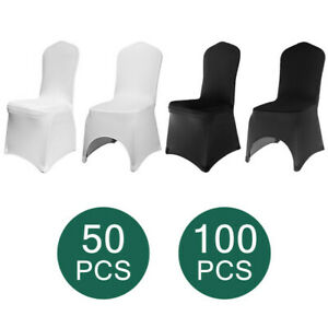 50 100 Universal Chair Covers Stretch Spandex Wedding Party Banquet Hotel Decor