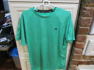 Russell Athletic Dri power 360 Green Training Fit Short Sleeves Size L $8.89