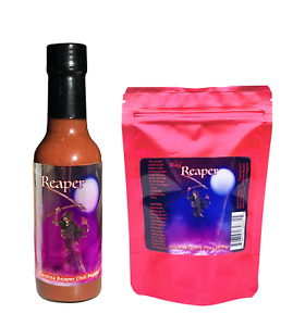 Carolina Reaper Hot Sauce 5 Dried Chili Peppers 2 Free Gift Set Wicked Reaper $14.99