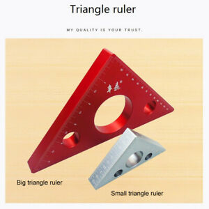 Aluminum Alloy Measuring Right Angle Triangle Height Ruler DIY Woodworking Guide $23.98