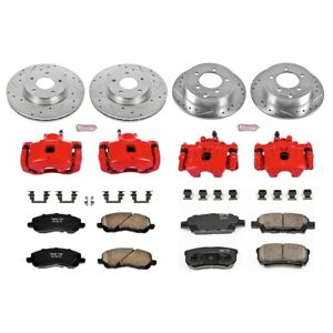 KC2840 Powerstop Brake Disc and Caliper Kits 4-Wheel Set Front & Rear for Dodge