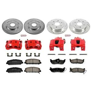 KC2804 Powerstop 4-Wheel Set Brake Disc and Caliper Kits Front & Rear for Armada
