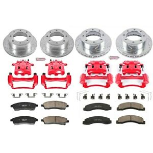 KC1906 Powerstop Brake Disc and Caliper Kits 4-Wheel Set Front & Rear for Ford