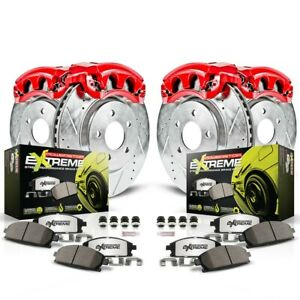 KC114B-26 Powerstop 4-Wheel Set Brake Disc and Caliper Kits Front