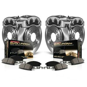 KCOE6537 Powerstop 4-Wheel Set Brake Disc and Caliper Kits Front