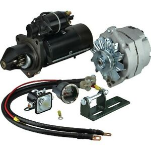 New 400-14199 4-201 Alternator and Starter for John Deere 3010 1960-1963