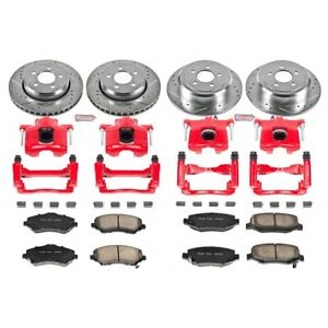 KC2832A Powerstop 4-Wheel Set Brake Disc and Caliper Kits Front