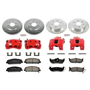 KC2805 Powerstop Brake Disc and Caliper Kits 4-Wheel Set Front & Rear for Titan