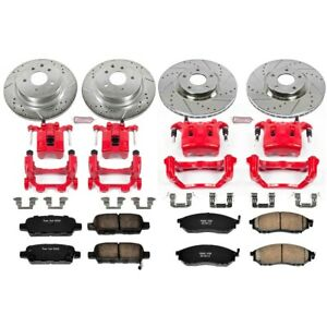 KC114B Powerstop 4-Wheel Set Brake Disc and Caliper Kits Front & Rear Sedan
