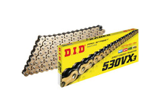 DID Pro Street VX3 X Ring Motorcycle Chain 530 120 links w Gold side plates 1 $120.36