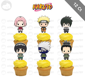 12 Naruto Cupcake Cake Topper Food Birthday Party