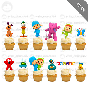 12 Pocoyo Cupcake Cake Topper Food Pick Favor Party Birthday Kid