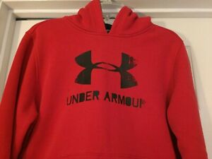 Under Armour Hoodie Sweatshirt Size Youth XL Loose Storm Red Black $16.00