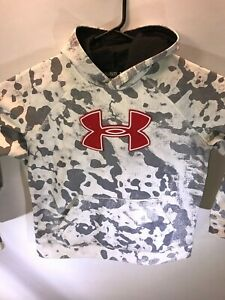 Youth XL Under Armour Loose White Camo Long Sleeve Pullover Hoodie Sweatshirt $19.99