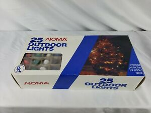 Vintage NOMA Christmas Light Sets of 25 C9.25 Colored Bulbs In Box
