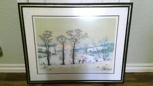Albert Drachkovitch Original Lithograph signed 30quot; x 40quot; framed $50.00