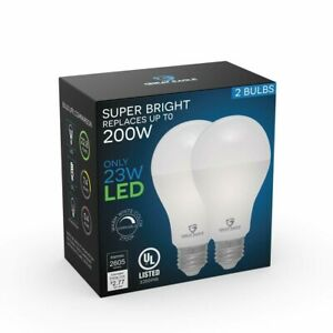 Great Eagle Dimmable 200W Replacement A21 LED Bulb 2700K/3000K/4000K/5000K (2pk)