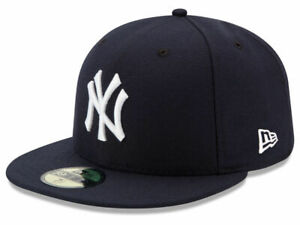 New Era 59Fifty New York NY Yankees Game Fitted Hat Dark Navy MLB Cap
