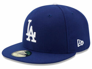 New Era 59Fifty Los Angeles LA Dodgers Game Fitted Hat Dark Royal MLB Cap $32.99