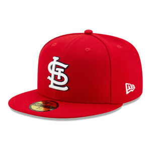 New Era 59Fifty St. Louis Cardinals GAME Fitted Hat Red Mens MLB Cap $32.99