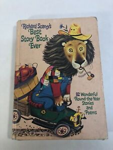 RICHARD SCARRY'S BEST STORY BOOK EVER 1968 Hardcover Book 288 Pages