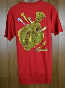 GUY HARVEY quot;Summer Flounderquot; Red T Shirt Fishing 100% Cotton Men#x27;s Large New