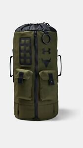 NEW* Under Armour UA x Project Rock 60 Green Gym Duffle Bag Backpack 1345663 315 $124.99