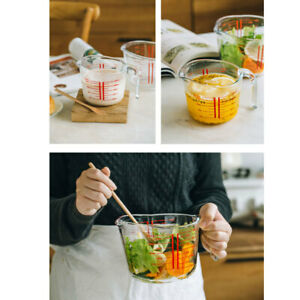 Clear Tempered Glass Measuring Cups Oven Dishwasher Kitchen Tool Supplies 250ml