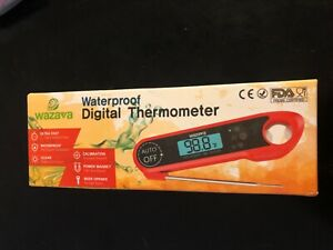 Waterproof Digital Instant Read Meat Thermometer Folding Probe Calibration Food