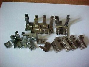 Industrial Sewing Feet Large Assortment 16 Total. Fits Many Model Machines $19.95