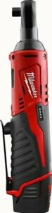 "Milwaukee M12 Cordless 38"" Ratchet Wrench with Battery Charger and Case"