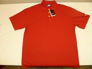Men's Nike Dri Fit Golf Shirt, Red 363807 $18.99