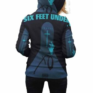 New Womens Hoodie The Weeknd Six Feet Under Hoodie Zipper Longsleeve Full Print $43.99