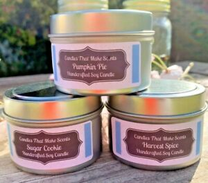 Handmade Soy Candles that smell AMAZING in 4oz or 8 oz Tins