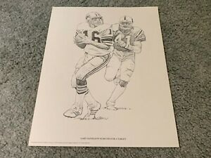 1981 Detroit Lions Gary Danielson Shell Oil Football Print Purdue Boilermakers $11.00
