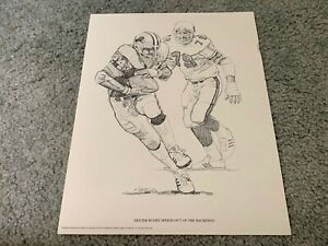 1981 Detroit Lions Dexter Bussey Shell Oil Football Print Oklahoma Sooners $11.00