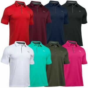 Under Armour UA Tech Mens Golf Polo Shirt NEW FREE SHIPPING 1290140 $27.99