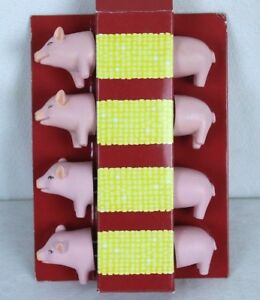 Corn Cob Holders Sur La Table Pig Piggy Set of 4 Stainless Steel Prongs Resin