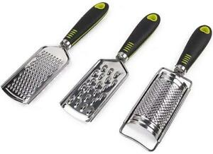 Rotary Cheese Grater Slicer Potato Onion Vegetable 3 Stainless Steel Round Blade