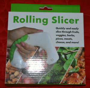 Rolling Slicer - Cutting Fruits, Vegetables, Herbs, Pizza, Meats, Cheese