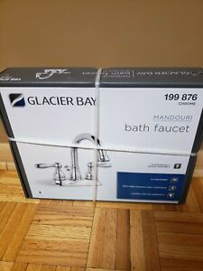 Glacier Bay Mandouri 4 in. Centerset 2-Handle High-Arc Bathroom Faucet in Chrome