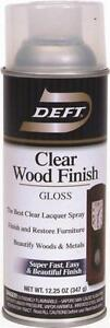 NEW DEFT 010-13 12 OZ SPRAY GLOSS LACQUER CLEAR WOOD FINISH SEALER 2409589