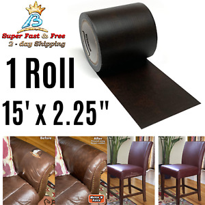 Realistic Dark Brown Leather Upholstery Sofa Repair Tape Patch Cover Tears Hole