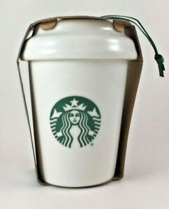 Starbucks Nesting Cup Coffee Ornament Holiday Siren Christmas 2016 RARE DISCONT