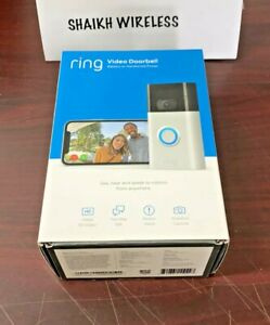 Brand New Ring Wi-Fi Enabled Video Doorbell - Satin Nickel