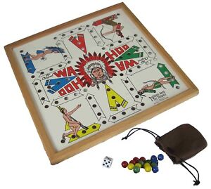 The Original Wa Hoo Board Game  WAHOO Made in USA w Marbles Dice and Poke