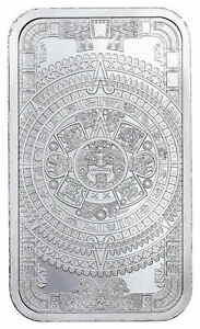 Golden State Mint Aztec Calendar 1 oz Silver Bar BU SKU60711